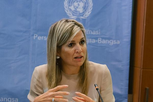 Queen Máxima speaking at the UN during her previous visit to Indonesia in 2016. Photo credit: Oktobernardi Salam