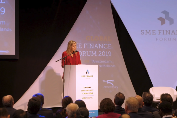 UNSGSA Queen Máxima speaks at the 2019 SME Finance Forum.